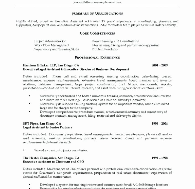 Medical Resume Template Free Lovely Secretary Resume Duties – Letsdeliver