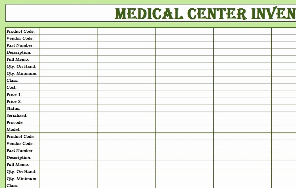 Medical Supply Inventory Template Awesome Medical Center Inventory Sheet
