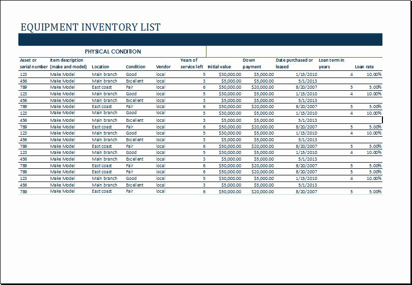 Medical Supply Inventory Template Best Of Microsoft Fice Equipment Inventory Template Templates