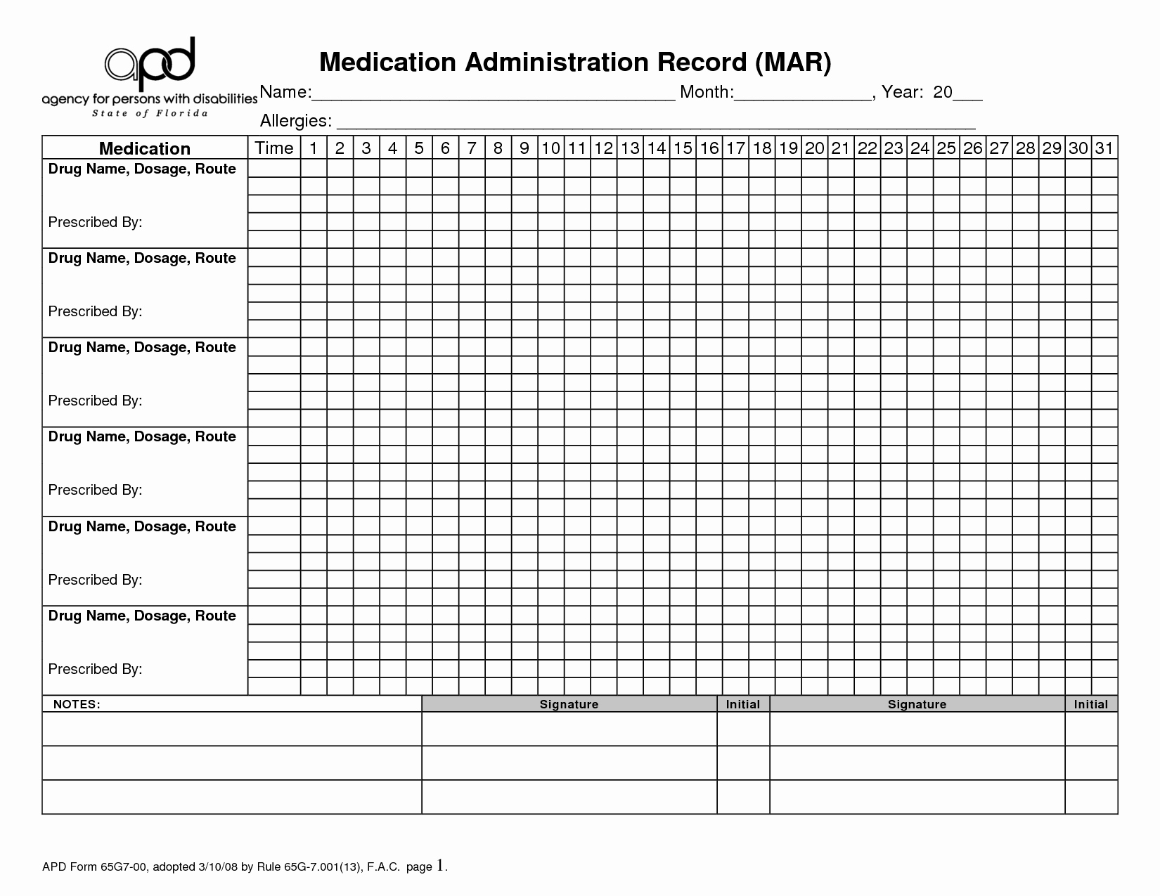 Medication Administration Record Template Awesome 9 Best Of Printable Medication Administration