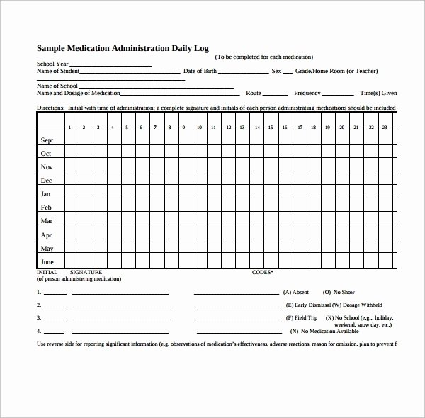 Medication Administration Record Template Beautiful Medication Administration Record Template Pdf