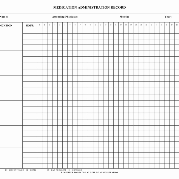 Medication Administration Record Template Best Of Ooo Mail Template Unique Blank Medication Administration