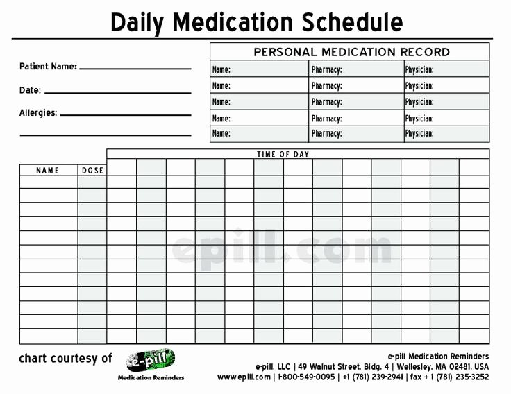 Medication Administration Record Template Lovely Free Daily Medication Schedule Free Daily Medication