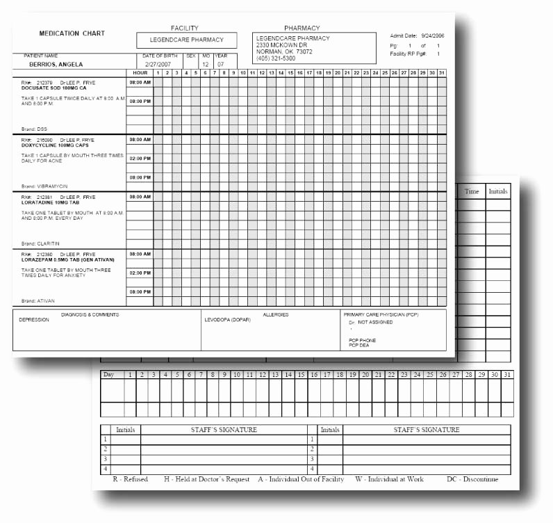 Medication Administration Records Template Beautiful 9 Best Of Printable Medication Administration