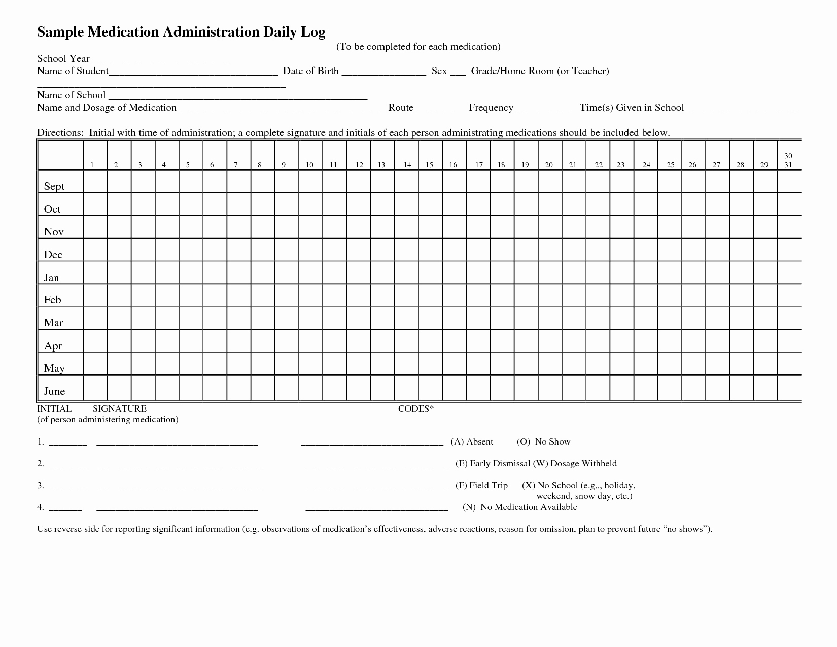 Medication Administration Records Template Best Of 8 Best Of Daily Medication Log Printable Daily