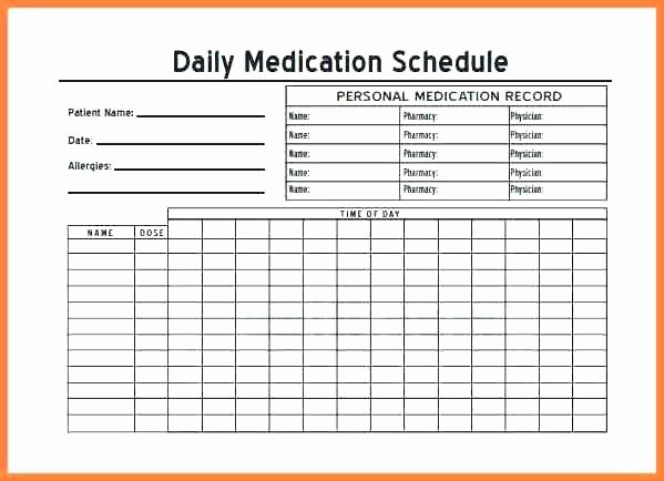 Medication Administration Records Template Fresh Gallery Medication List Template Inspirational Blank