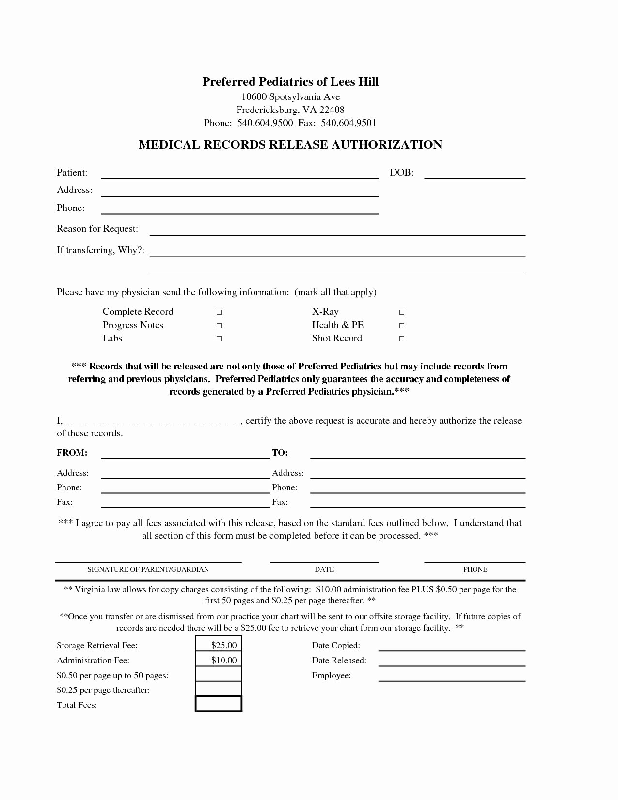 Medication Release form Template Awesome Medical Release Letter Template Examples