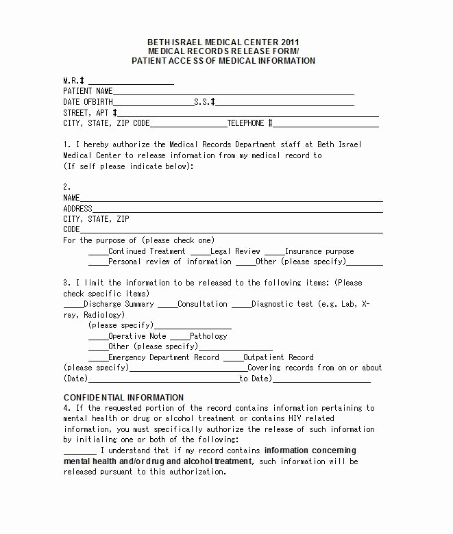 30 medical release form templates