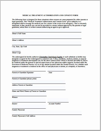 Medication Release form Template New Sample Medical Authorization form Templates