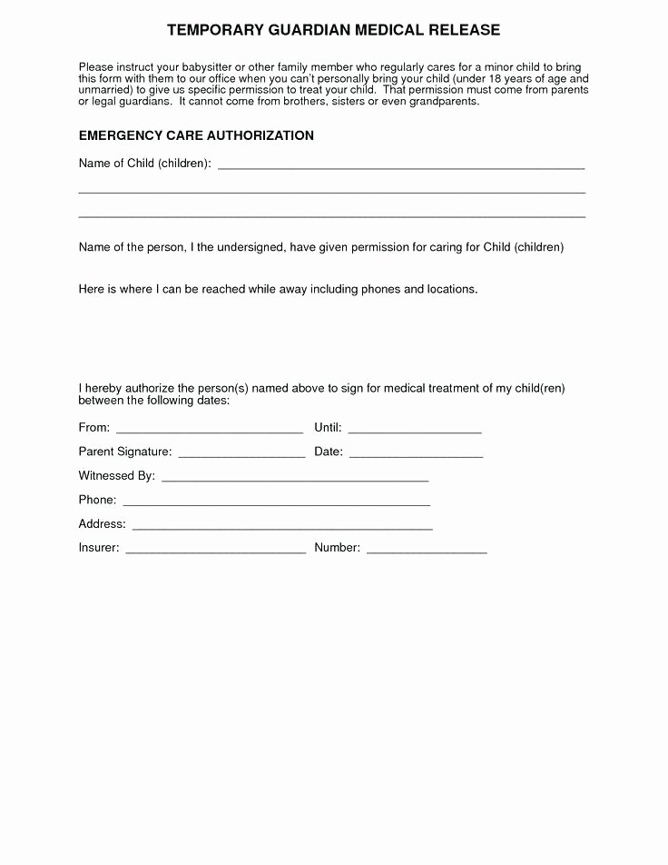 Medication Release form Template Unique Free Download Medical Permission Slip Template Printable