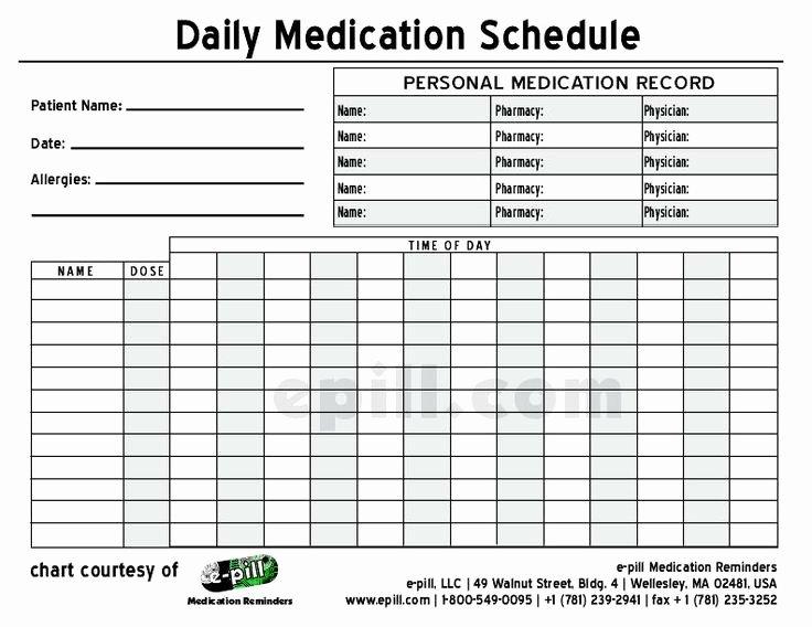 Medication Schedule Template Excel Elegant Free Daily Medication Schedule Free Daily Medication