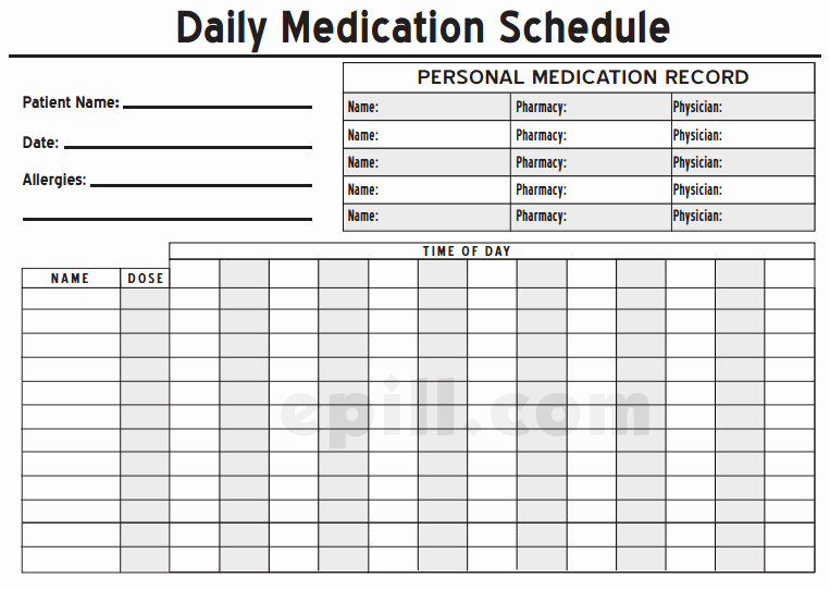 Medication Schedule Template Excel New 6 Medication Intake Schedule Templates – Word Templates