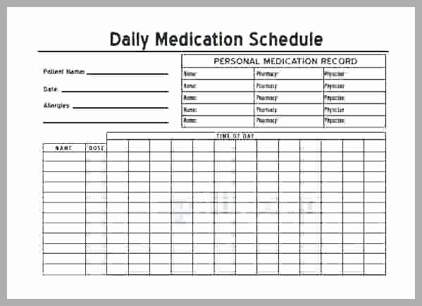 Medication Schedule Template Excel Unique Medication Administration Record Template Word Luxury