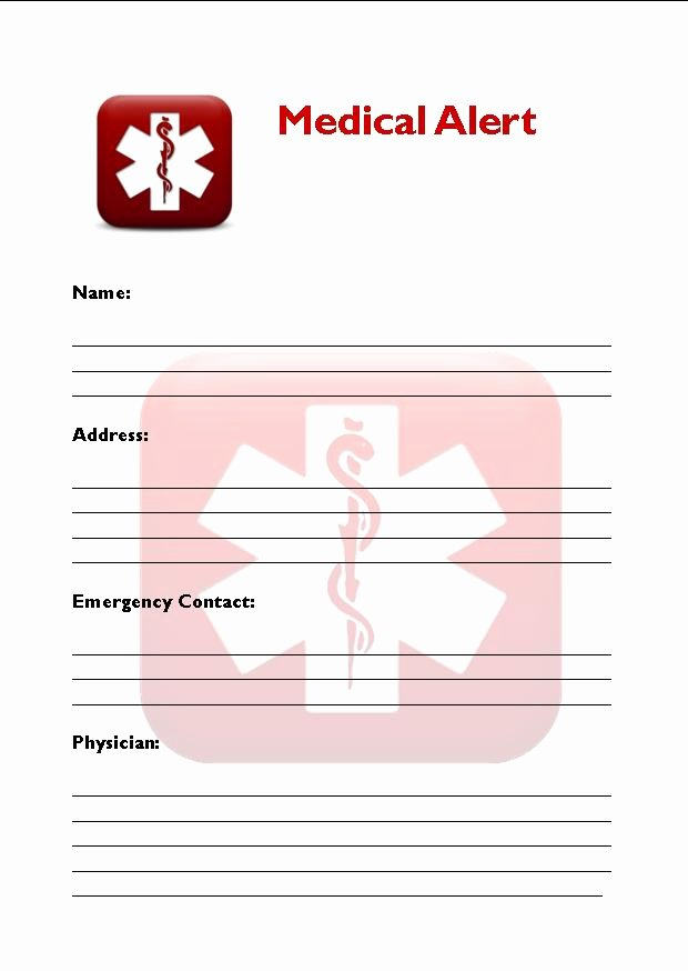 Medication Wallet Card Template Awesome 8 Best Of Free Printable Medical Cards Free