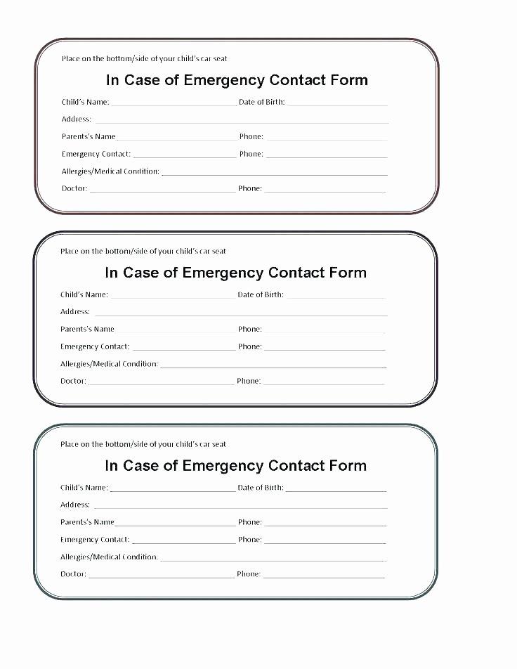 Medication Wallet Card Template Beautiful Emergency Medical Card Template Kids Id Card Template