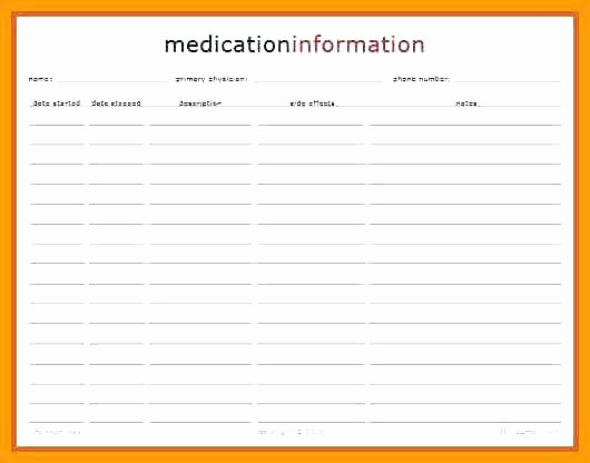 Medication Wallet Card Template Best Of Emergency Medical Card Template Free Printable Id Cards