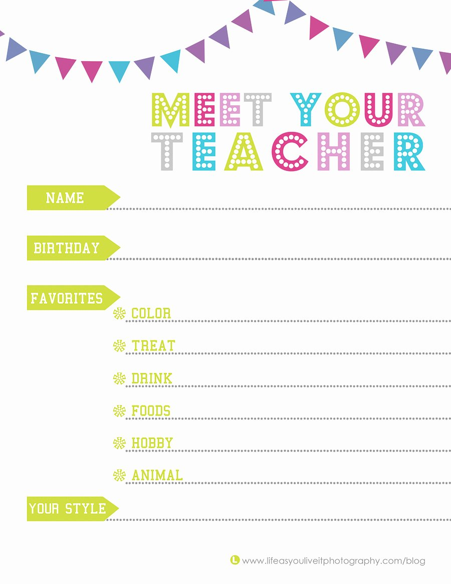 Meet the Teacher Template Awesome Being Intentional Free Lifeasyouliveit