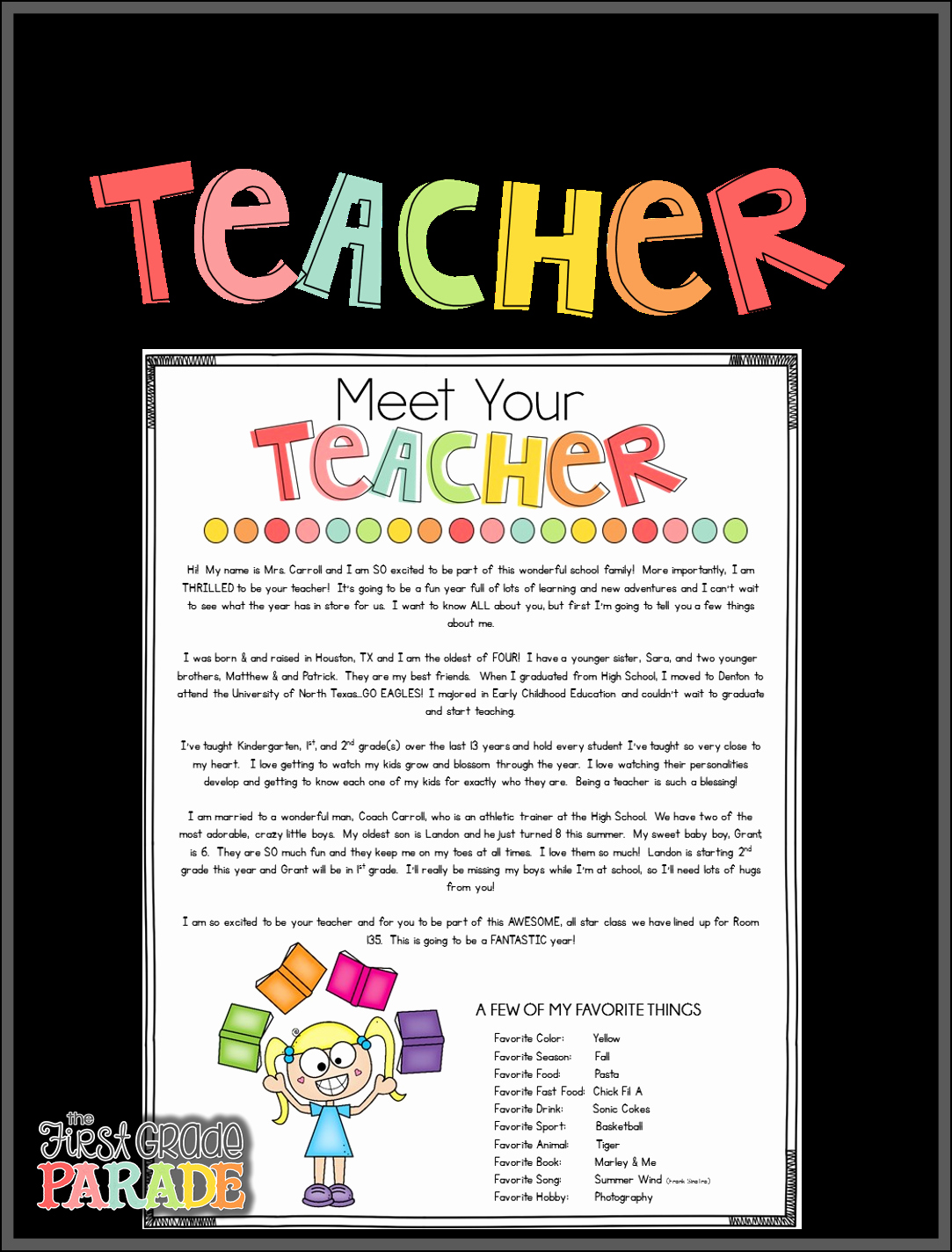 Meet the Teacher Template Awesome Meet the Teacher Freebies