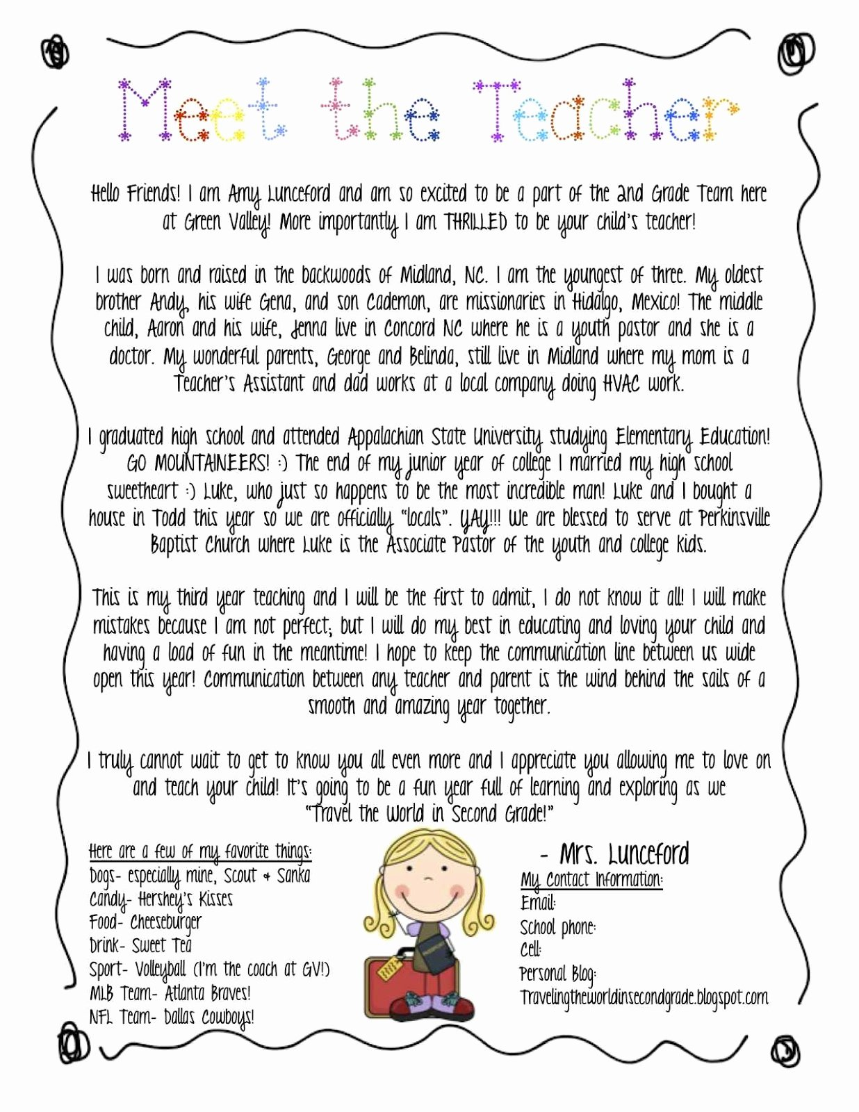 Meet the Teacher Template Awesome Traveling the World In 2nd Grade Back to School forms and