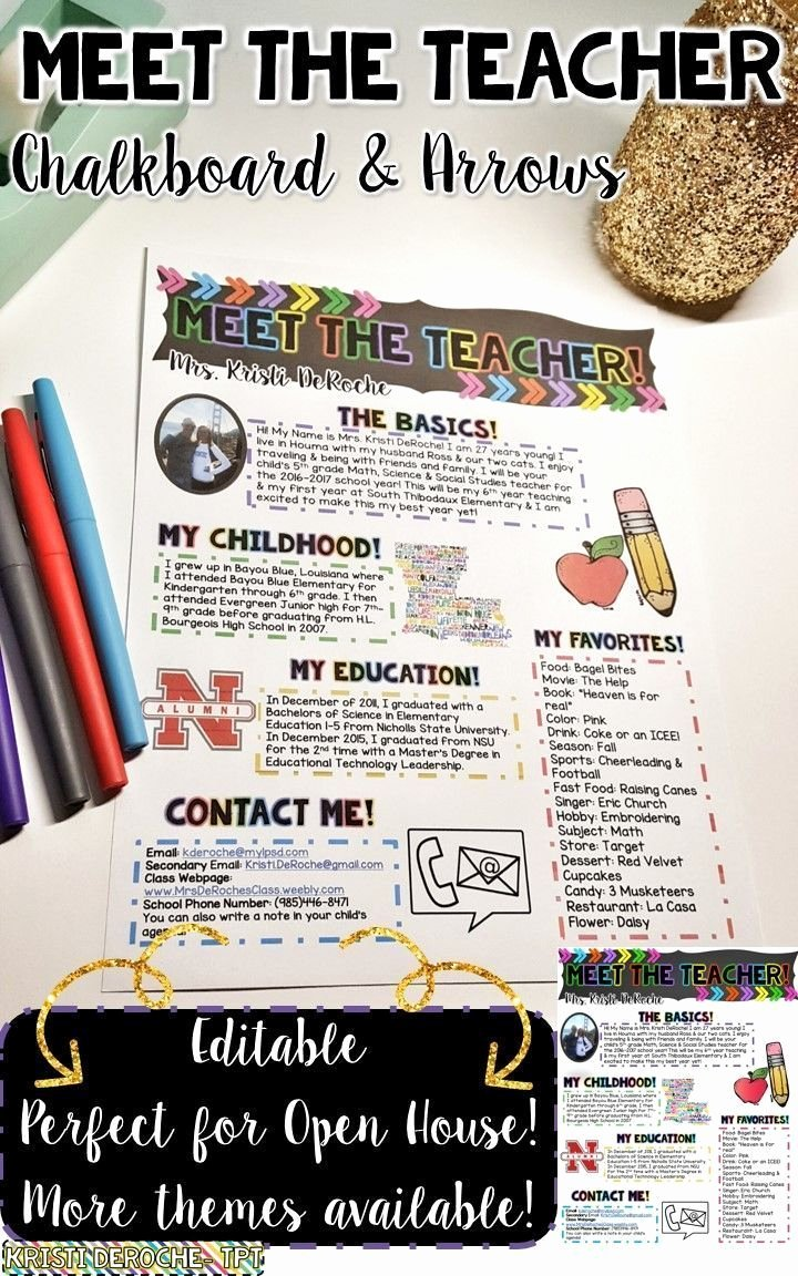Meet the Teacher Template Best Of Best 25 Teacher Newsletter Ideas On Pinterest