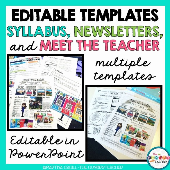Meet the Teacher Template Best Of Editable Syllabus Templates Editable Meet the Teacher