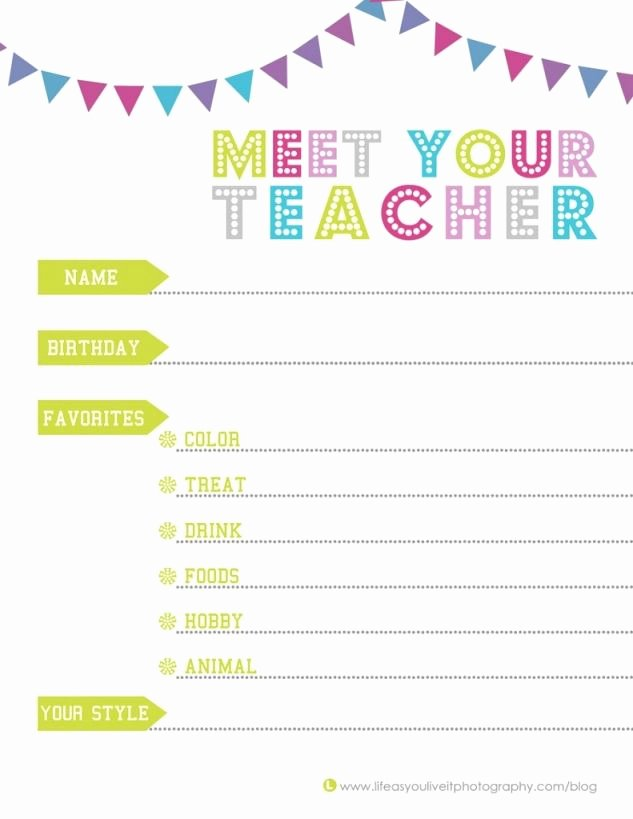 Meet the Teacher Template Best Of Meet Your Teacher to Know Your Child S Teacher so