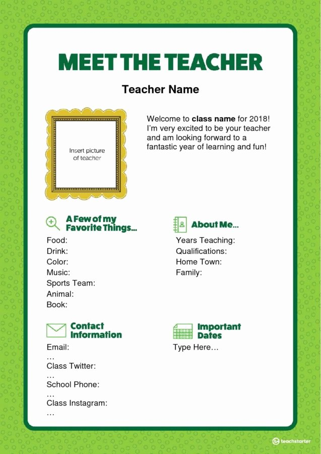 Meet the Teacher Template Elegant Meet the Teacher Letter Editable Word Version Teaching