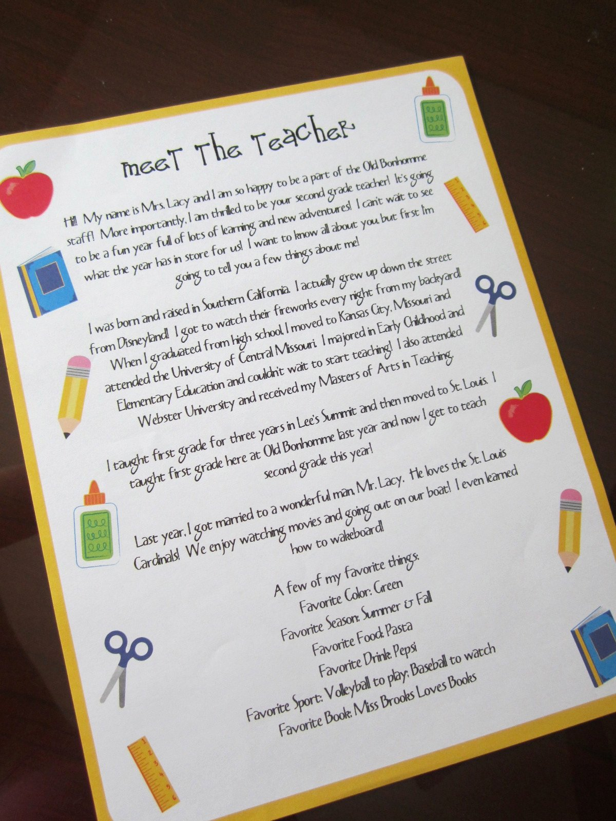 Meet the Teacher Template Fresh Lacy S Letters Meet the Teacher & Freebies