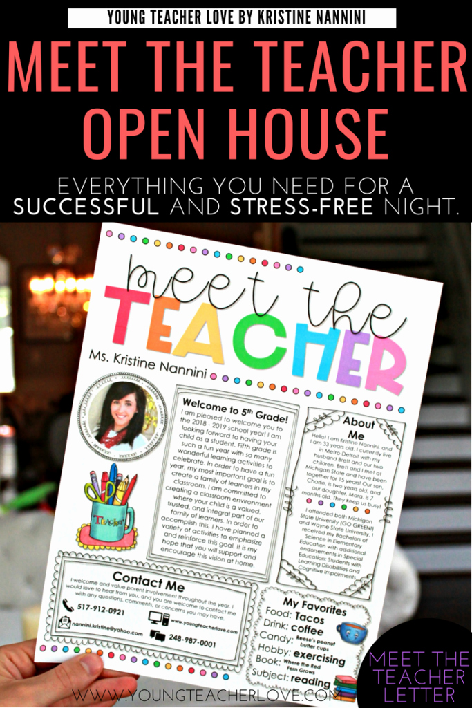 Meet the Teacher Template Lovely How to Plan Your Meet the Teacher Open House Night Young