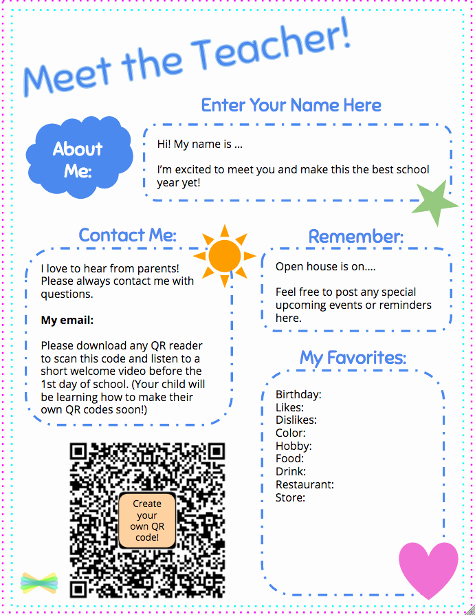 Meet the Teacher Template Luxury Meet the Teacher Template with Seesaw Printable Wel E