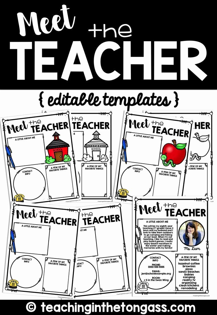 Meet the Teacher Template New 1000 Ideas About Letter Templates On Pinterest