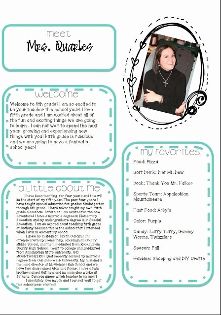 Meet the Teacher Template New Best 25 Teacher Introduction Letter Ideas On Pinterest