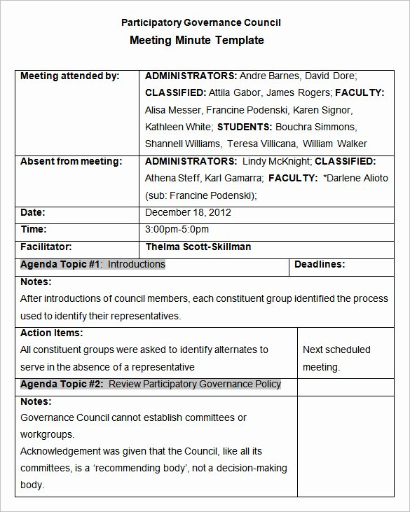 Meeting Action Items Template Luxury Meeting Minutes Template 25 Free Samples Examples