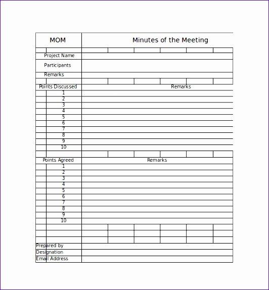 meeting minute template excel k7730