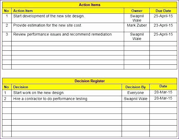 Meeting Minute Template Excel Fresh Printable attendance Sheet Register Template Meeting Doc