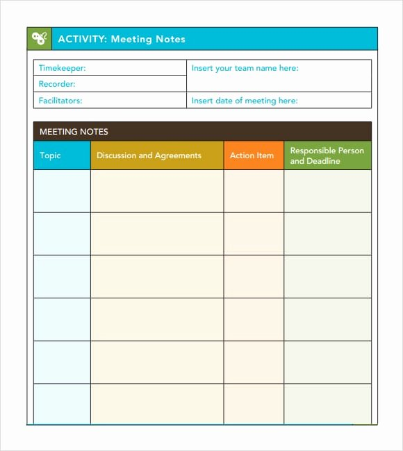 Meeting Minute Template Excel New 7 Free Meeting Minutes Templates Excel Pdf formats