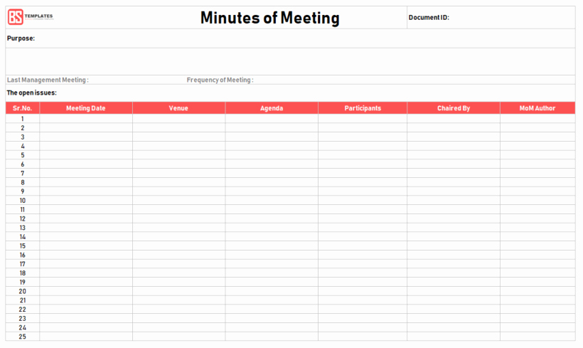 Meeting Minutes Template Excel Beautiful Minutes Of Meeting Template – 16 Excel Word