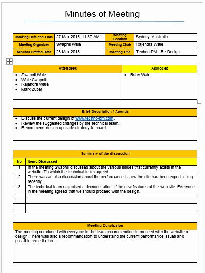 Meeting Minutes Template Excel Best Of Meeting Minutes Template Excel and Word Free Download