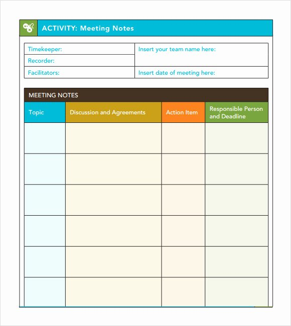 Meeting Minutes Template Excel Elegant Meeting Notes Template 9 Download Free Documents In Pdf