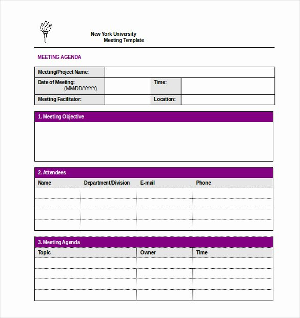 Meeting Minutes Template Excel Fresh 26 Minutes Templates Word Excel Pdf