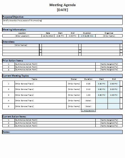 Meeting Minutes Template Excel Inspirational Free Excel Meeting Agenda Template Download