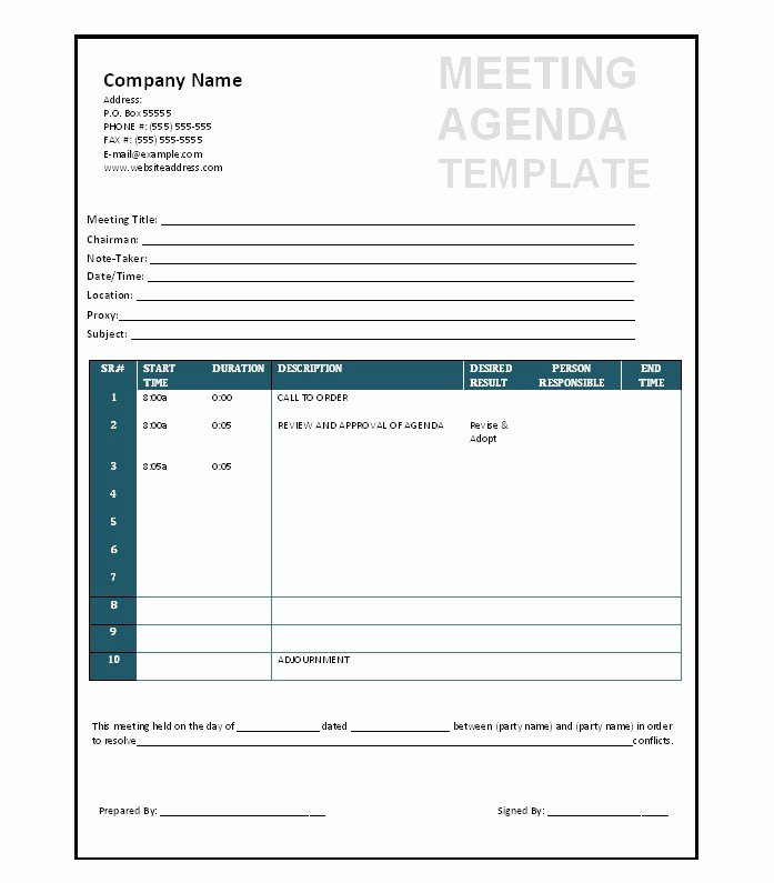Meeting Minutes Template Excel Luxury 46 Effective Meeting Agenda Templates Template Lab