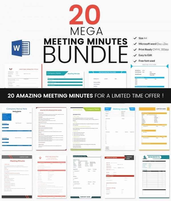 Meeting Minutes Template Excel Luxury Meeting Minutes Template 28 Download Free Documents In