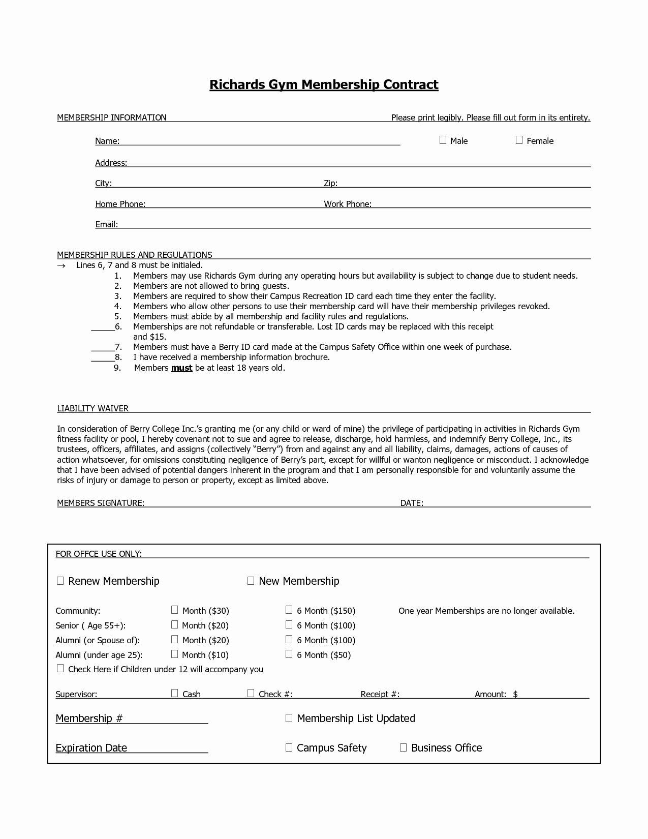 Membership Agreement Template Free Best Of 10 Best Of Membership Agreement Template Sample