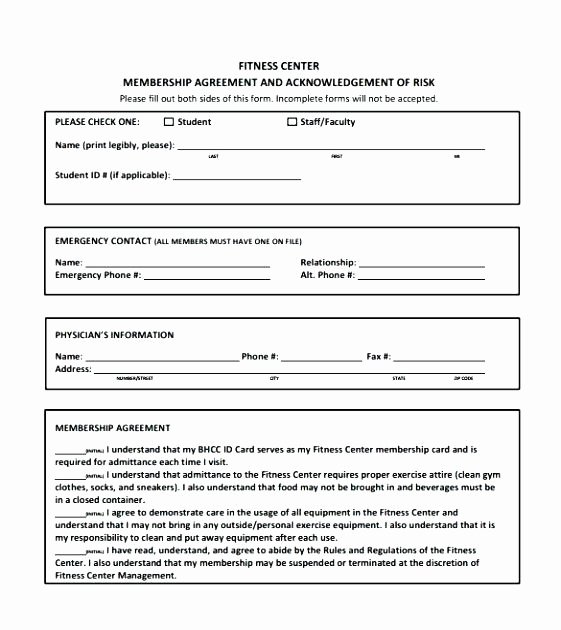 Membership Agreement Template Free Fresh Gym Membership Contract Template – Ddmoon
