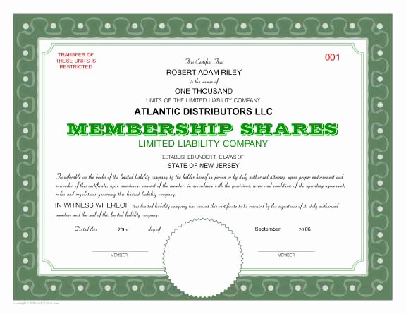 Membership Certificate Llc Template Lovely 7 Best Of Fill Out Certificates How Fill Out