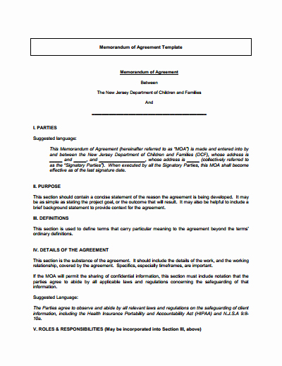 Memo Of Understanding Template Fresh Memorandum Of Understanding Download Edit Fill & Print