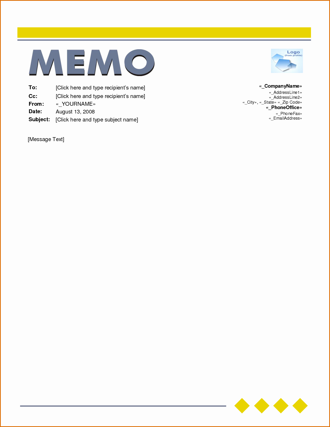 Memo Template for Word Awesome 6 Microsoft Word Memo Template
