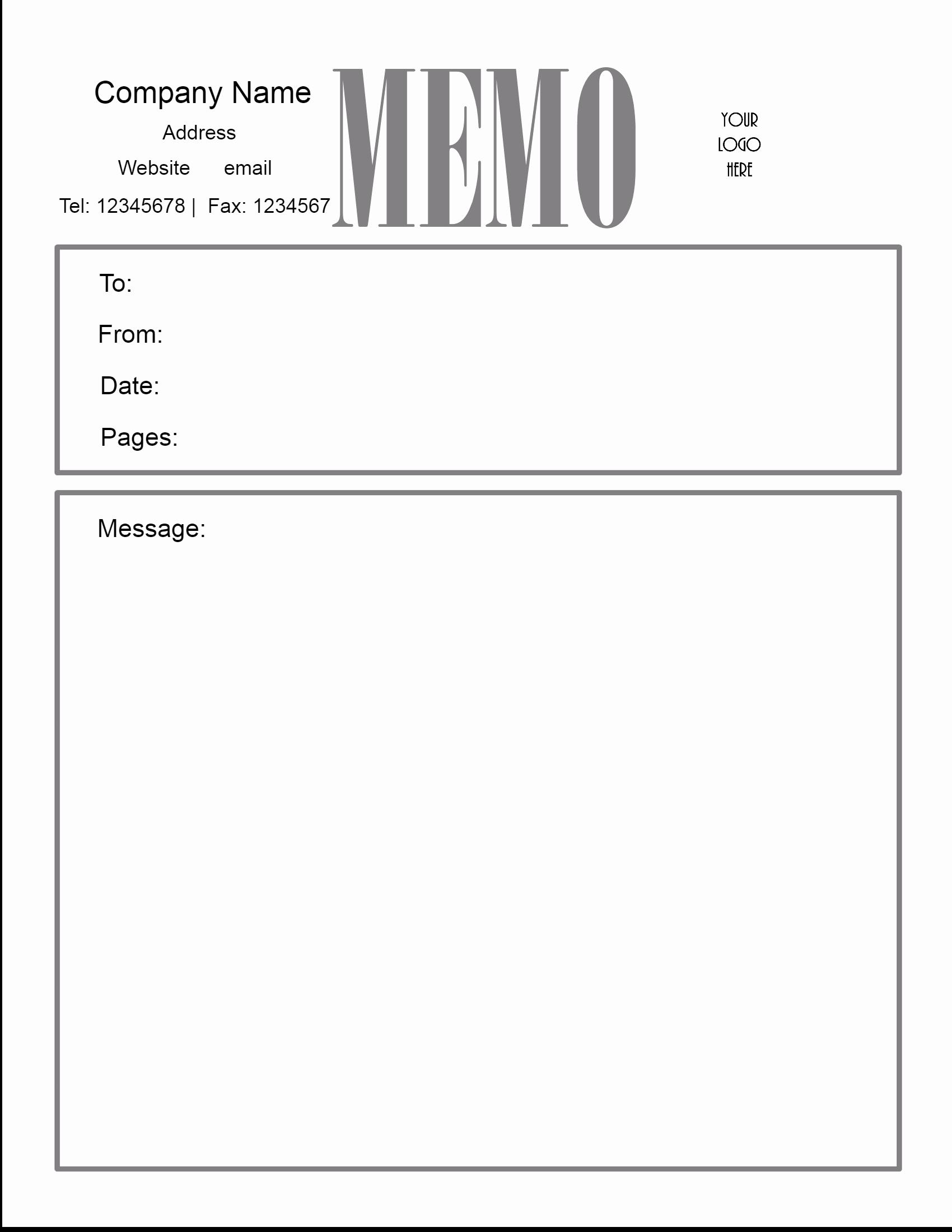 Memo Template for Word Beautiful Free Microsoft Word Memo Template