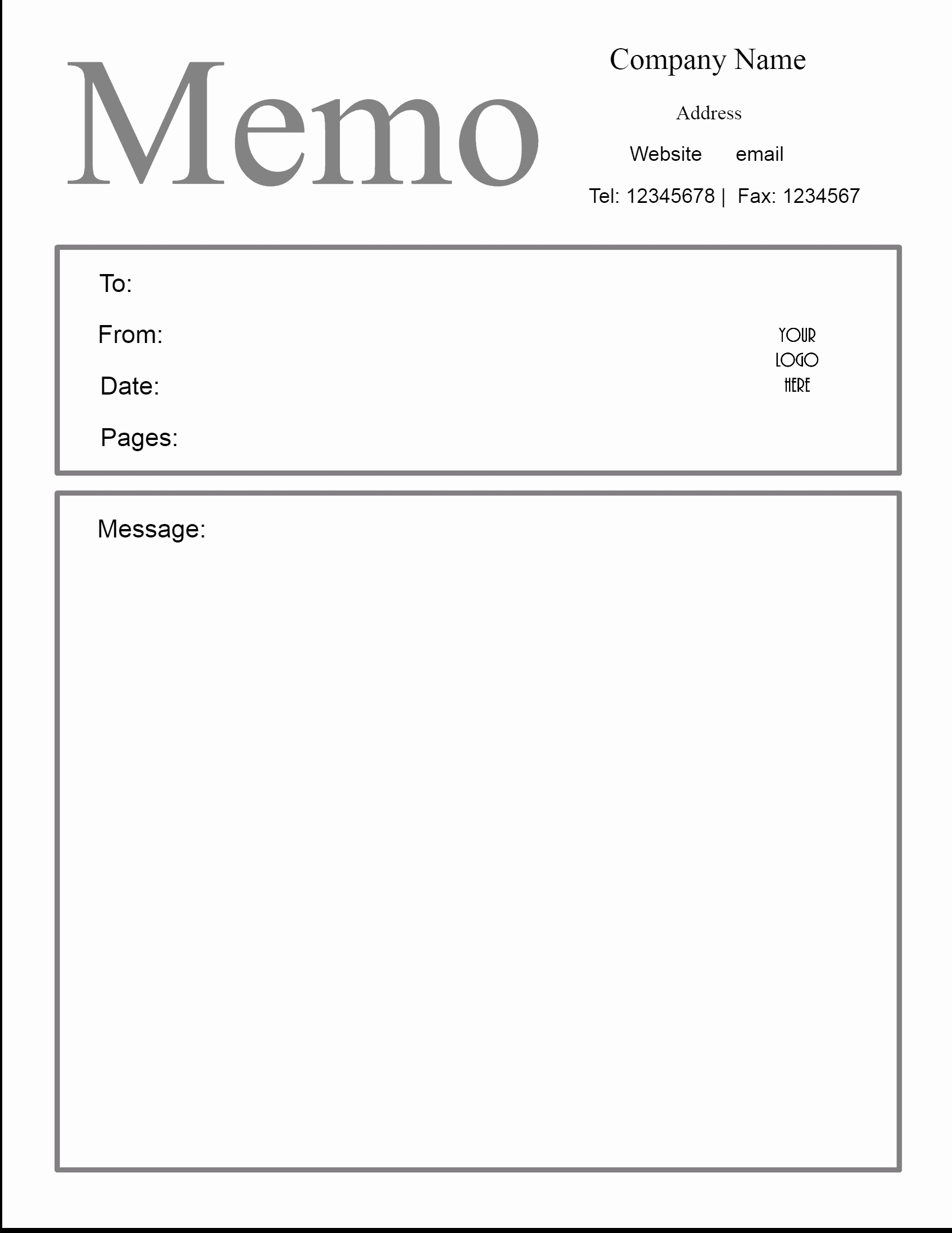 Memo Template for Word Best Of Free Microsoft Word Memo Template